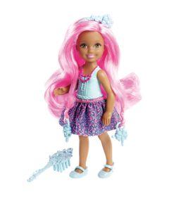 Mini-Boneca-Barbie---Reinos-Magicos---Chelsea-Penteados-Magicos---Penteado-Pink---Mattel