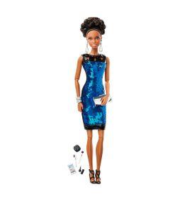 Boneca-Barbie-Colecionavel---Serie-Look---Black-Label---Estilo-Premiere---Vestido-Azul-com-Brilhantes----Mattel
