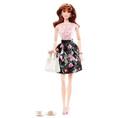 Boneca Barbie Colecionável - Serie Look - Black Label - Estilo Casual - Vestido Floral  - Mattel