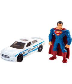 Mini-Figura-e-Veiculo---Hot-Wheels---Batman-Vs-Superman---A-Origem-da-Justica---Superman-e-Carro-da-Policia---Mattel