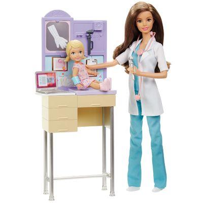 Playset e Boneca Barbie - Profissões - Barbie Pediatra - Mattel
