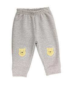Calca-de-Moletom-com-Joelheira---Mescla-Cinza---Pooh---Winnie-The-Pooh---Disney
