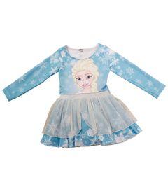 Vestido-Manga-Longa-com-Tule---Azul---Elsa---Frozen---Disney