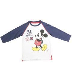 Camiseta-Manga-Longa---Branca-Azul-e-Vermelha---Mickey-Mouse-College---Disney