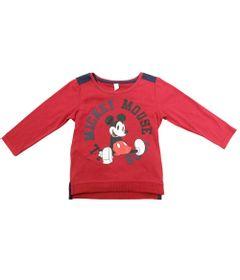 Camiseta-Manga-Longa---Vermelha---Mickey-Mouse-College---Disney