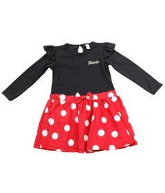 Vestio-Manga-Longa---Preto-com-Vermelho-e-Poas-Brancos---Minnie-Mouse---Disney