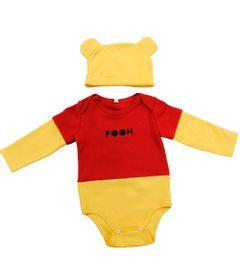 Body-Manga-Longa-com-Touca---Vermelho-e-Amarelo---Pooh---Winnie-The-Pooh---Disney