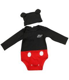 Body-Manga-Longa-com-Touca---Preto-e-Vermelho---Mickey-Mouse---Disney