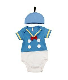 Body-Manga-Curta-com-Touca---Azul-e-Branco---Pato-Donald---Disney