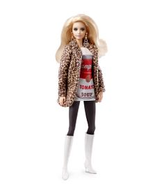 Boneca-Barbie-Colecionavel---Andy-Warhol---Campbells-Tomato-Soup---Mattel