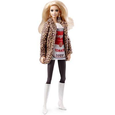 Boneca Barbie Colecionável - Andy Warhol - Campbells Tomato Soup - Mattel
