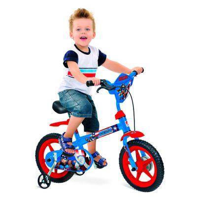 Bicicleta Aro 12 - Marvel - Capitão América - Bandeirante - Disney