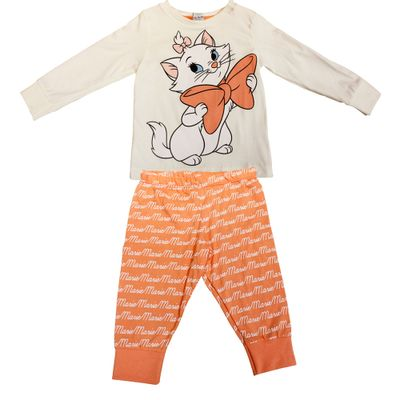 Pijama Longo - Rosa - Gatinha Marie - Disney