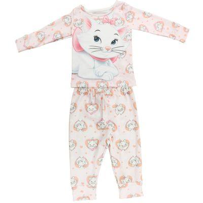 Pijama Longo em Ribana - Rosa - Marie - Aristogatas - Disney