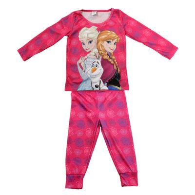 Pijama Longo - Pink - Elsa, Anna e Olaf - Frozen - Disney
