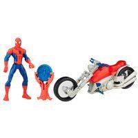 Figura-Articulada-15cm-com-Veiculo---Marvel-Ultimate-Spider-Man---Sinister-6---Homem-Aranha-com-Moto---Hasbro