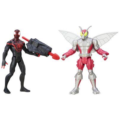 Pack-2-Figuras-Articuladas-15cm---Marvel-Ultimate-Spider-Man---Sinister-6---Kid-Arachinid-Vs-Beetle---Hasbro