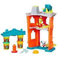Playset-e-Massa-de-Modelar---Play-Doh-Town---Quartel-de-Bombeiros---Hasbro