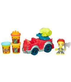 Massa-de-Modelar---Play-Doh-Town---Carro-de-Bombeiros---Hasbro