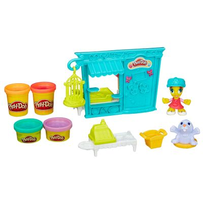 Playset e Massa de Modelar - Play-Doh Town - Tenda de Mascotes Pet Shop - Hasbro