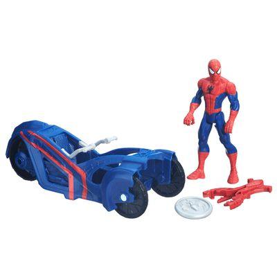 Figura 15 cm com Veículo Ultimate Spider-Man Sinister 6 - Homem Aranha com Carro - Hasbro - Disney