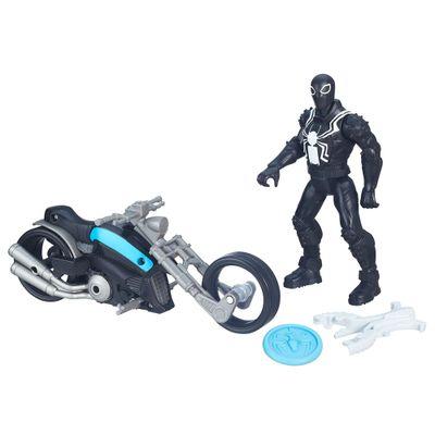 Figura 15 cm com Veículo - Ultimate Spider-Man Sinister 6 - Agente Venon com Moto - Hasbro - Disney