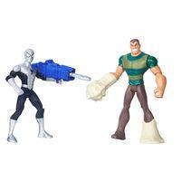 Pack-2-Figuras-Articuladas-15cm---Marvel-Ultimate-Spider-Man---Sinister-6---Homem-Aranha-com-Armadura-Vs-Sandman---Hasbro