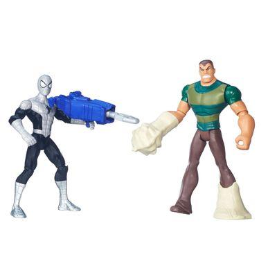Pack 2 Figuras 15cm - Ultimate Spider-Man - Homem Aranha com Armadura Vs Sandman - Hasbro - Disney