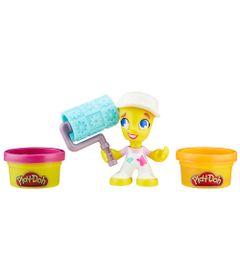 Massa-de-Modelar-com-Figura---Play-Doh-Town---Pintora---Hasbro