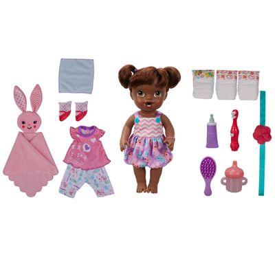 Boneca Bebê - Baby Alive - Festa do Pijama - Negra - Hasbro