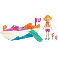 Boneca---Polly-Pocket-com-Veiculo---Lancha-da-Polly---Mattel