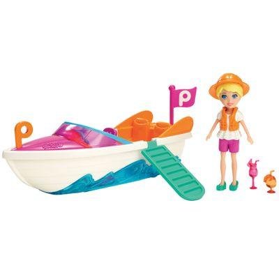 Boneca - Polly Pocket com Veículo - Lancha da Polly - Mattel
