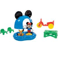 Playset-Mickey-Mouse-Club-House---Acampamento-do-Mickey-Mouse-com-Pluto---Mattel