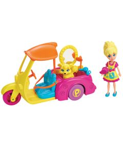 Boneca---Polly-Pocket-com-Veiculo---Moto-da-Polly-com-Pet---Mattel