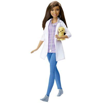 Boneca Barbie - Série Profissões - Veterinária - Mattel