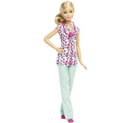 Boneca Barbie - Série Profissões - Enfermeira Loira - Mattel
