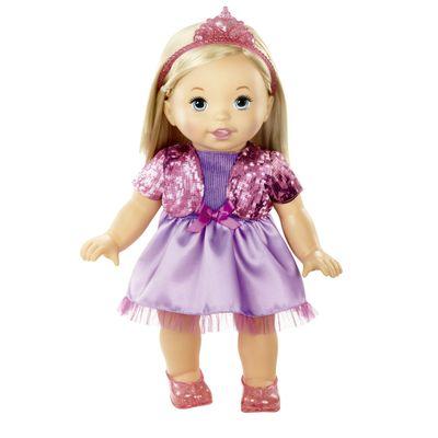 Boneca Bebê - My Little Mommy - Doce Bebê - Vestido Roxo e Tiara - Mattel