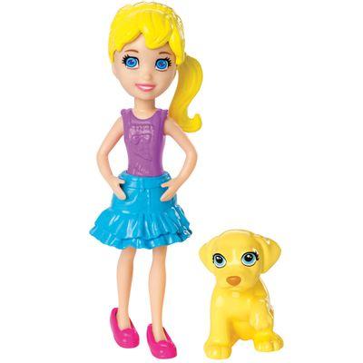 Boneca Polly Pocket e seu Bichinho de Estimação - Lila e Pet - Mattel