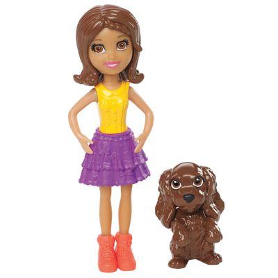Boneca Polly Pocket e seu Bichinho de Estimação - Shani e Pet - Mattel