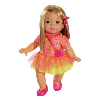 Boneca Bebê - My Little Mommy - Doce Bebê - Vestido Rosa e Amarelo - Mattel