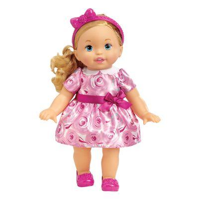 Boneca Bebê - My Little Mommy - Doce Bebê - Vestido com Laço Roxo - Mattel