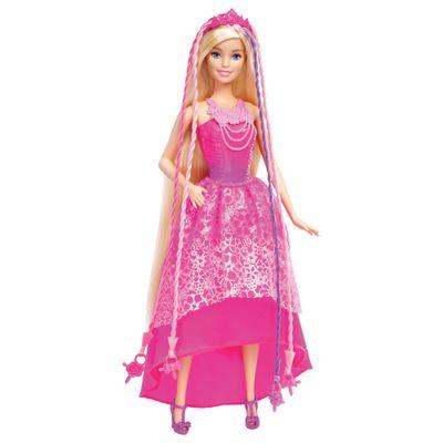Boneca Barbie - Reinos Mágicos - Penteados Mágicos - Barbie com Trançador - Mattel