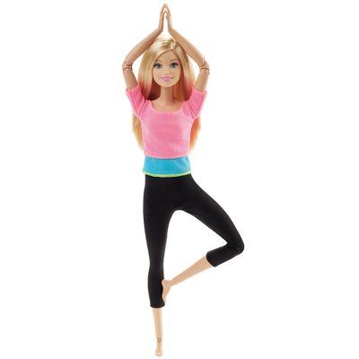 Boneca Barbie Articulada - Feita para Mexer - Blusa Pink - Mattel