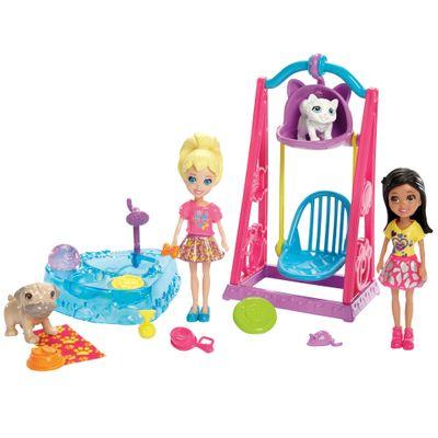 Mini Boneca com Acessórios - Polly Pocket - O Melhor dia de Todos - Polly no Parque - Mattel