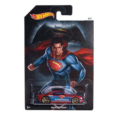 Carrinho-Hot-Wheels---DC-Comics---Batman-Vs-Superman---A-Origem-da-Justica---Superman---Muscle-Tone---Mattel