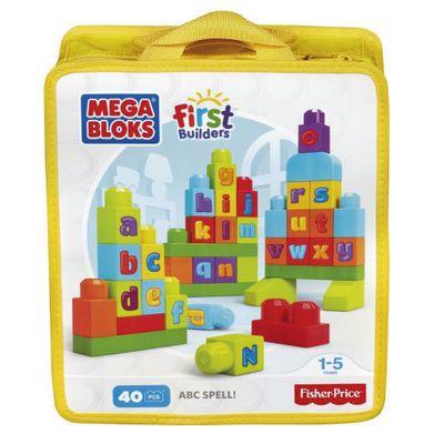 Mega Bloks - First Builders - Sacola com 40 Peças - ABC - Mattel