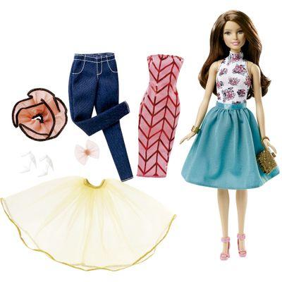Boneca Barbie com Acessórios - Looks Mix - Morena - Mattel