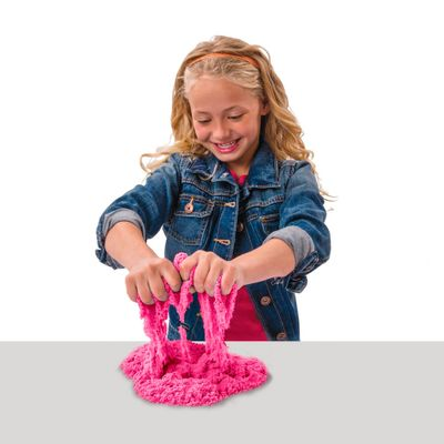 Areia para Modelar - Massa Areia Colorida - Kinectic Sand - Pink - Sunny