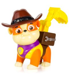 Mini-Figura-com-Mecanismo---Patrulha-Canina---Serie-Herois-Cowboys---Rumble---Sunny
