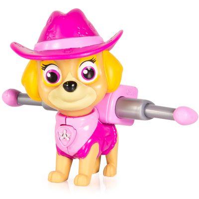 Mini-Figura-com-Mecanismo---Patrulha-Canina---Serie-Herois-Cowboys---Skye---Sunny